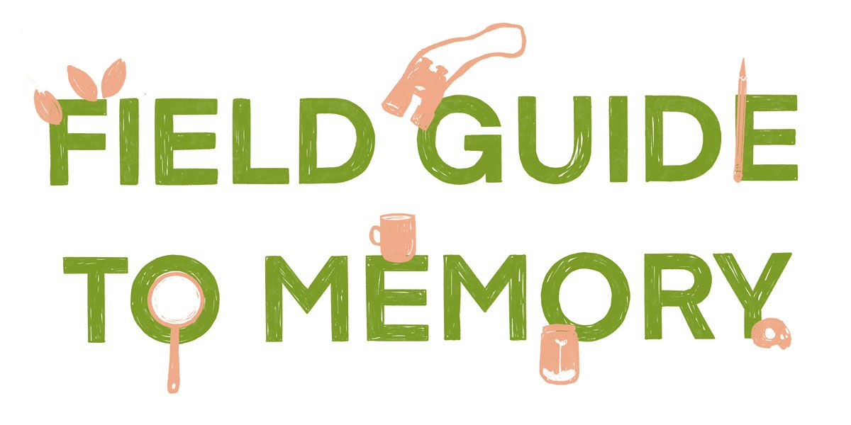 """the text reads """"field guide to memory"""""""