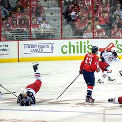 Wilson Stays Standing as Three Blue Jackets Fall to Ice