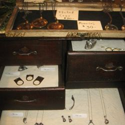 Top drawers - Species by the Thousands, Bottom - Elizabeth Knight Jewelry