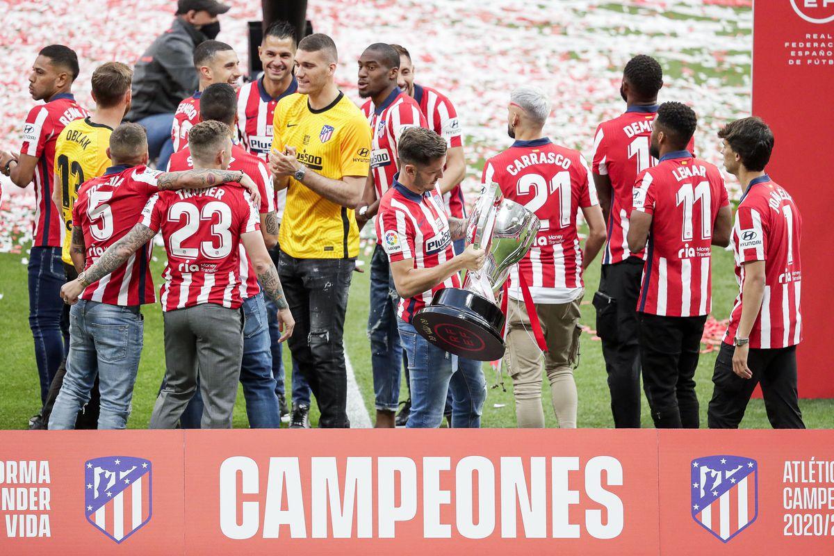 Championship celebration Atletico Madrid