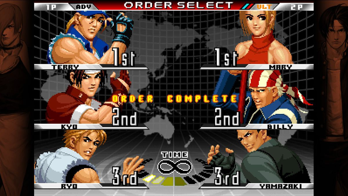 The King of Fighters '98: Ultimate Match three vs. three screen