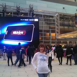In front of Smoothie King Center before the ASG, 2.16.14