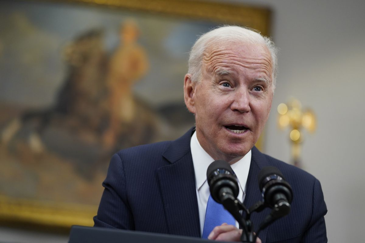 In this May 13, 2021 file photo, President Joe Biden speaks in the Roosevelt Room of the White House in Washington. Biden is doubling U.S. emergency spending to help communities prepare for hurricanes and other extreme weather events, while launching a new effort at NASA to better understand and track the impacts of climate change.