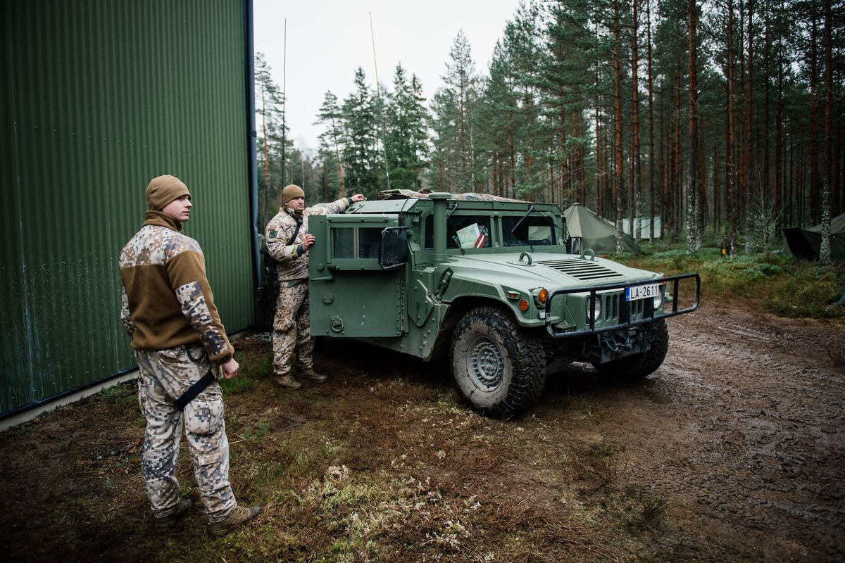 Latvian troops participate in exercises in Sweden.