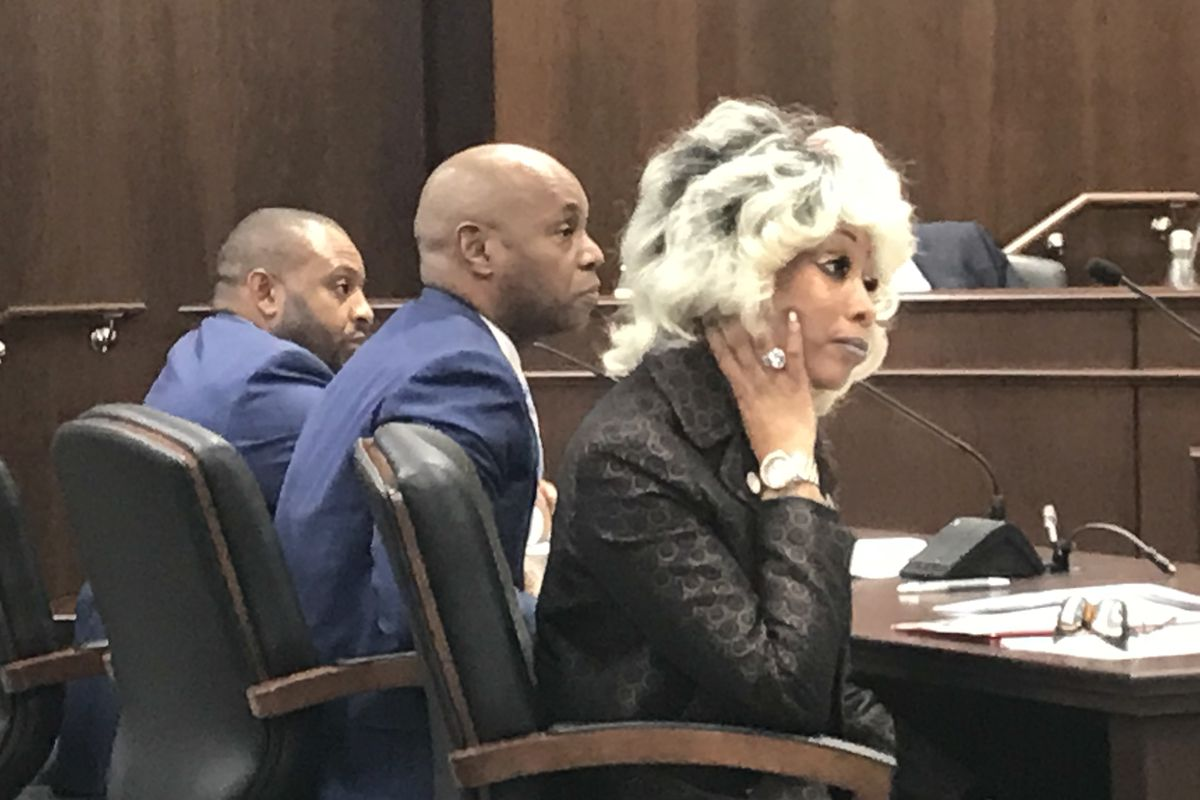 From left: Shelby County Schools board member Kevin Woods, Superintendent Dorsey Hopson, and Chief of Schools Sharon Griffin appear Tuesday before a joint House legislative committee in Nashville.