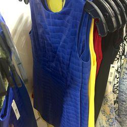 Cobalt leather dress, $289 (was $1,098)