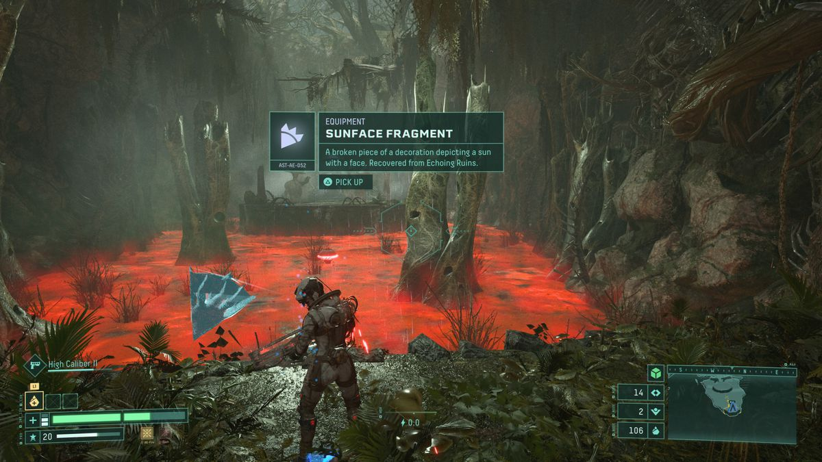 Echoing Ruins Sunface Fragment in-game location
