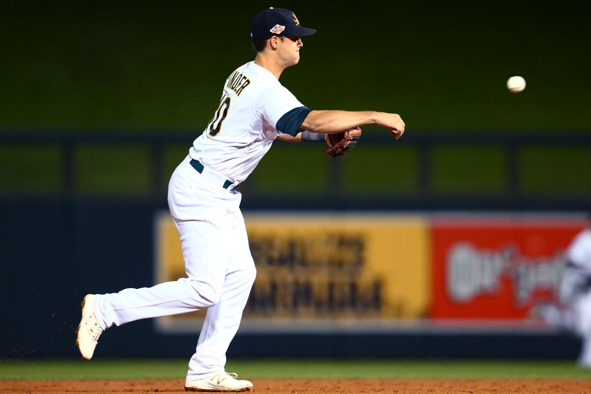 Middle infielder Chad Pinder is one of many talented young position players nearing the big leagues for the A's.