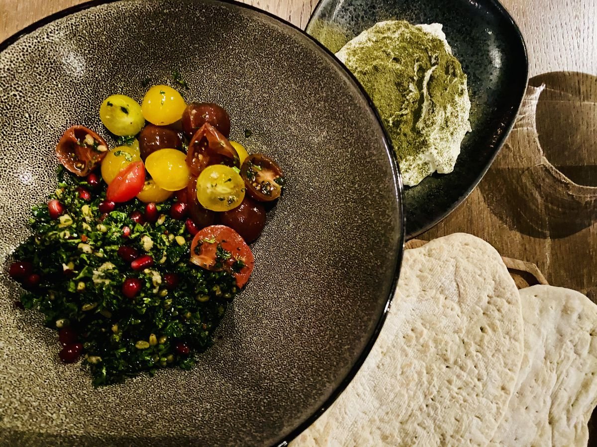 Ala's hot and cold meze sections offer lots of options of vegetarians.