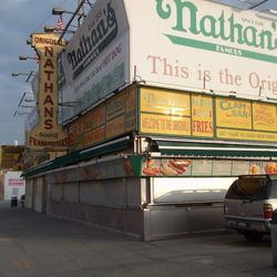 The original Nathan's Famous stand.