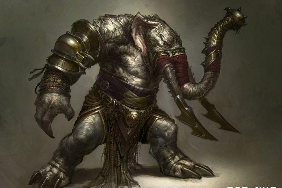 god of war ascension elephantaur