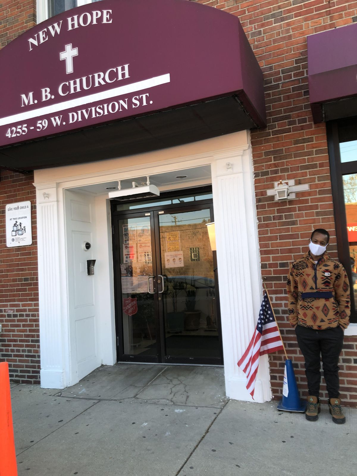 """In the West Side K-Town neighborhood, Arion Brown, 25, was working the 37th Ward's 2nd precinct at Chicago North Side New Hope Church, 4255 W Division. """"This election is critical because our elections are a reflection of the views of the American people, and of which ideology will prevail,"""" said Brown, a historian."""