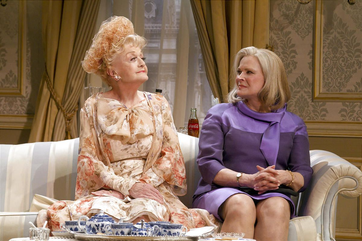 """Angela Lansbury, left, and Candice Bergen in a scene from Gore Vidal's """"The Best Man."""""""