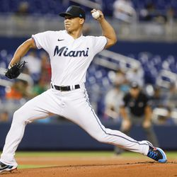 Jesús Luzardo, Marlins starting pitcher on Sunday