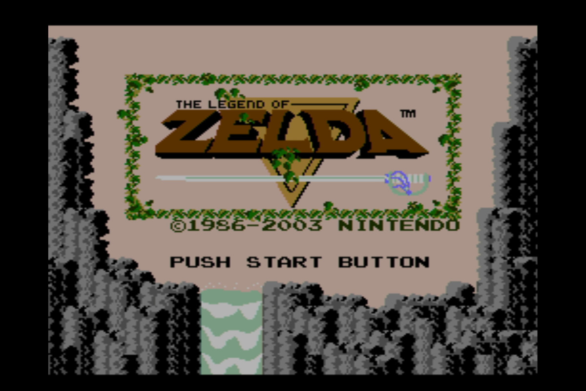 a screenshot from the title screen of zelda