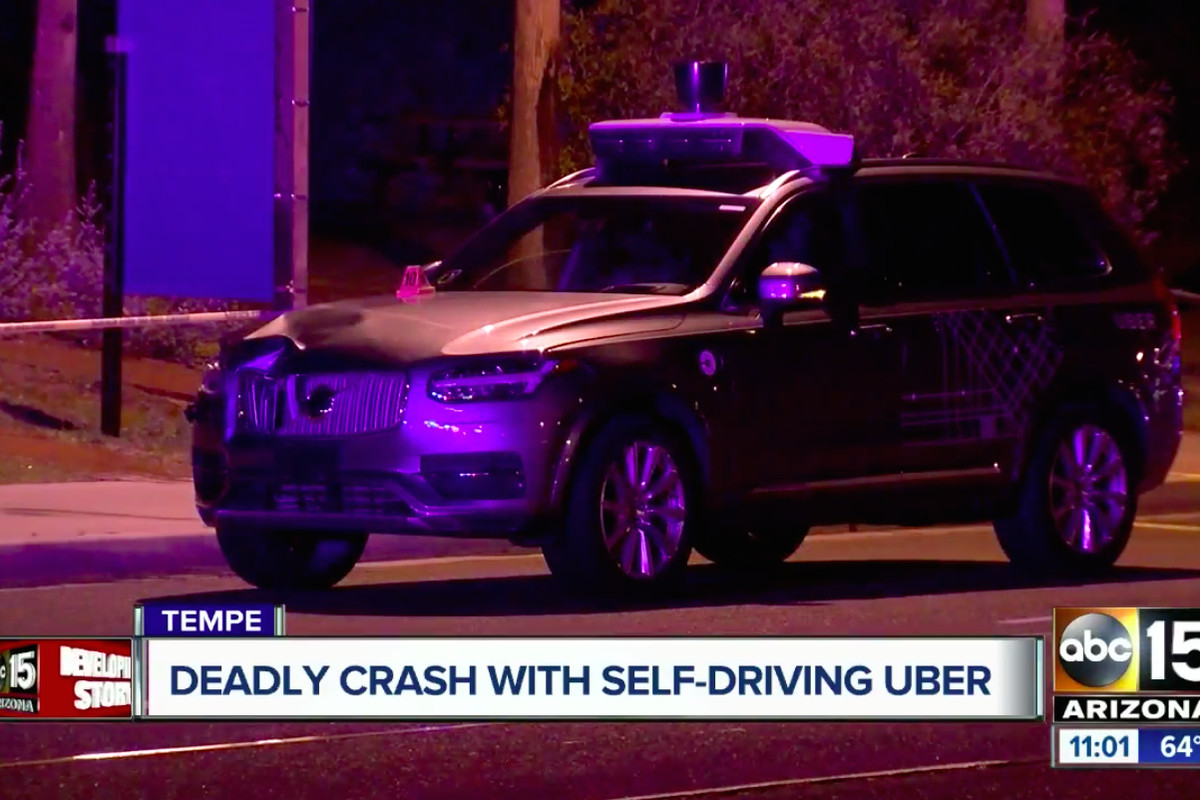 Uber self-driving car saw pedestrian but didn't brake before