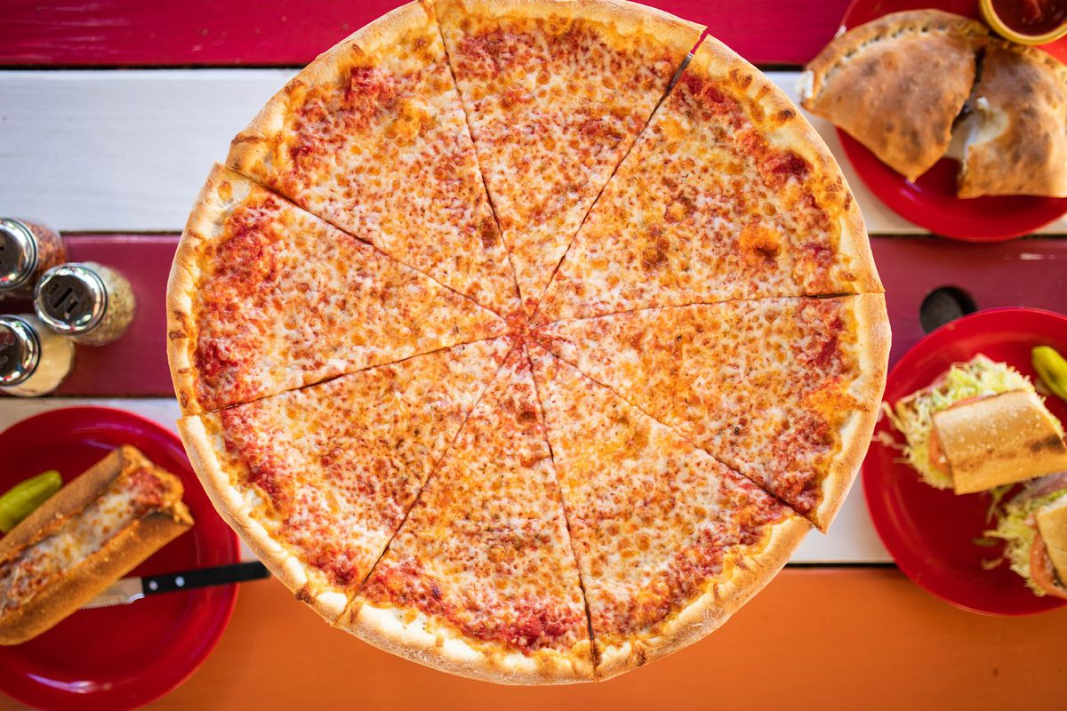 Cheese pizza from Home Slice Pizza