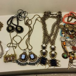 Assorted necklaces, priced by color