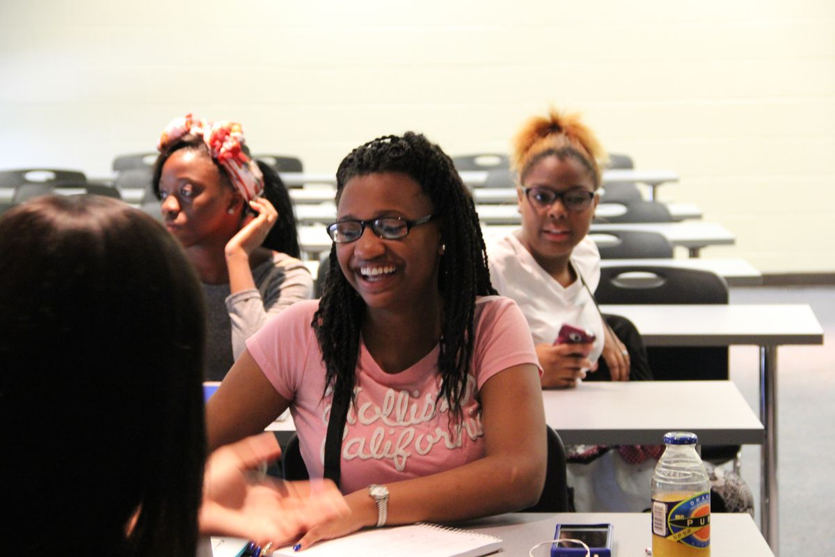 High school student Dekena Ervin attends an entrepreneurship class at the University of Memphis through the Summer Institutes, launched in 2015 in partnership with GRAD Academy Memphis. The South Memphis charter school announced it would be closing this summer.