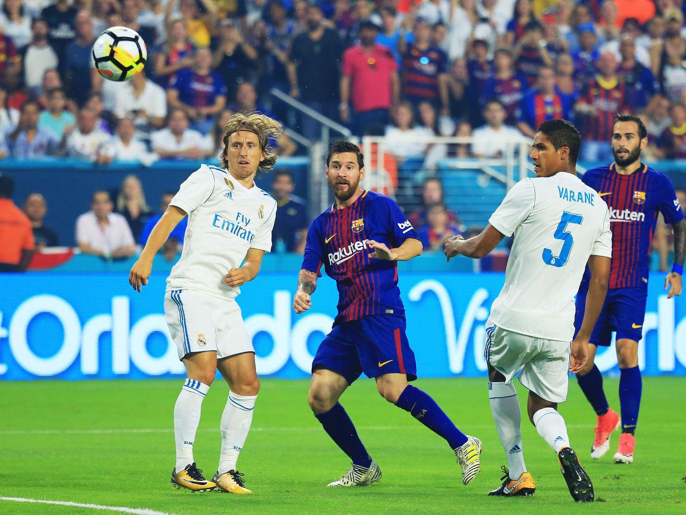 Barcelona Vs Real Madrid 2017 International Champions Cup Final Score 3 2 Barca Win Miami Clasico Barca Blaugranes