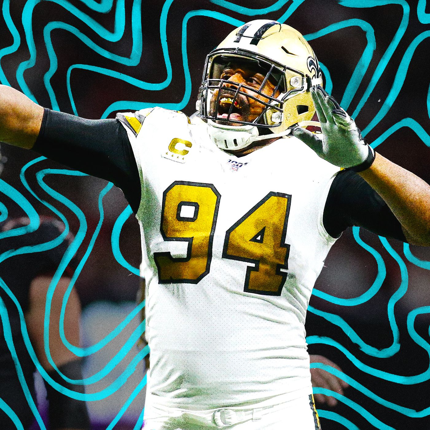 Cameron Jordan New Orleans Saints NFC Pro Bowl Game Jersey
