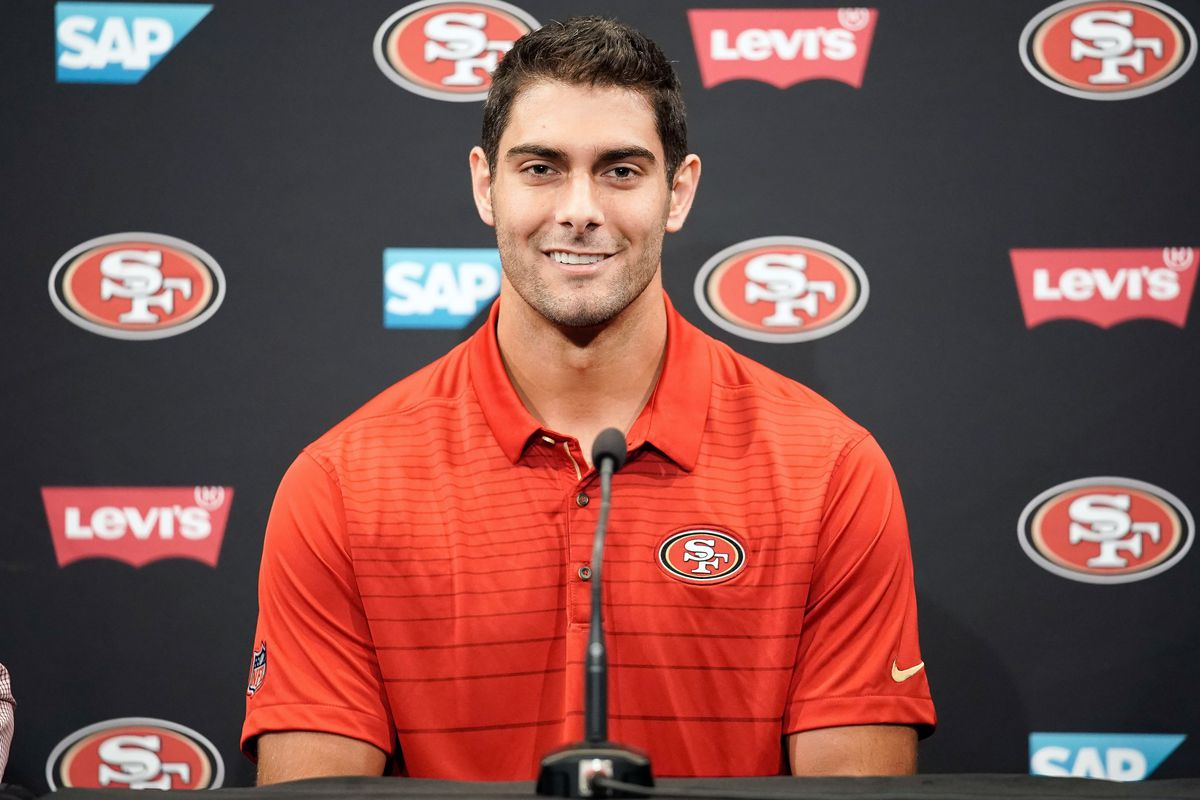 Jimmy G Niners >> Jimmy Garoppolo trade: Film breakdown of the 49ers new quarterback - Niners Nation