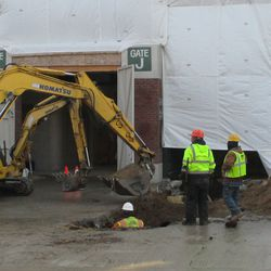 New excavation outside Gate K/J -