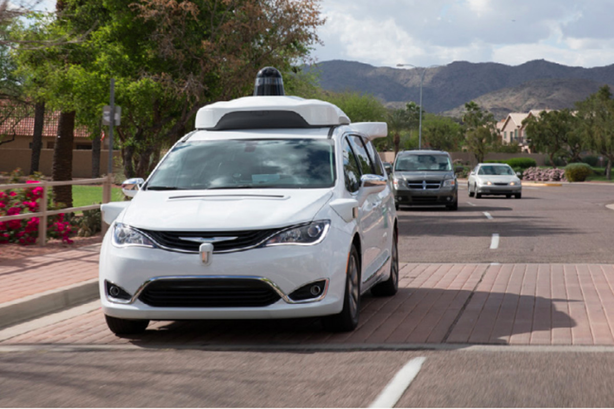 No safety driver in Waymo's self-driving vehicle taxi fleet