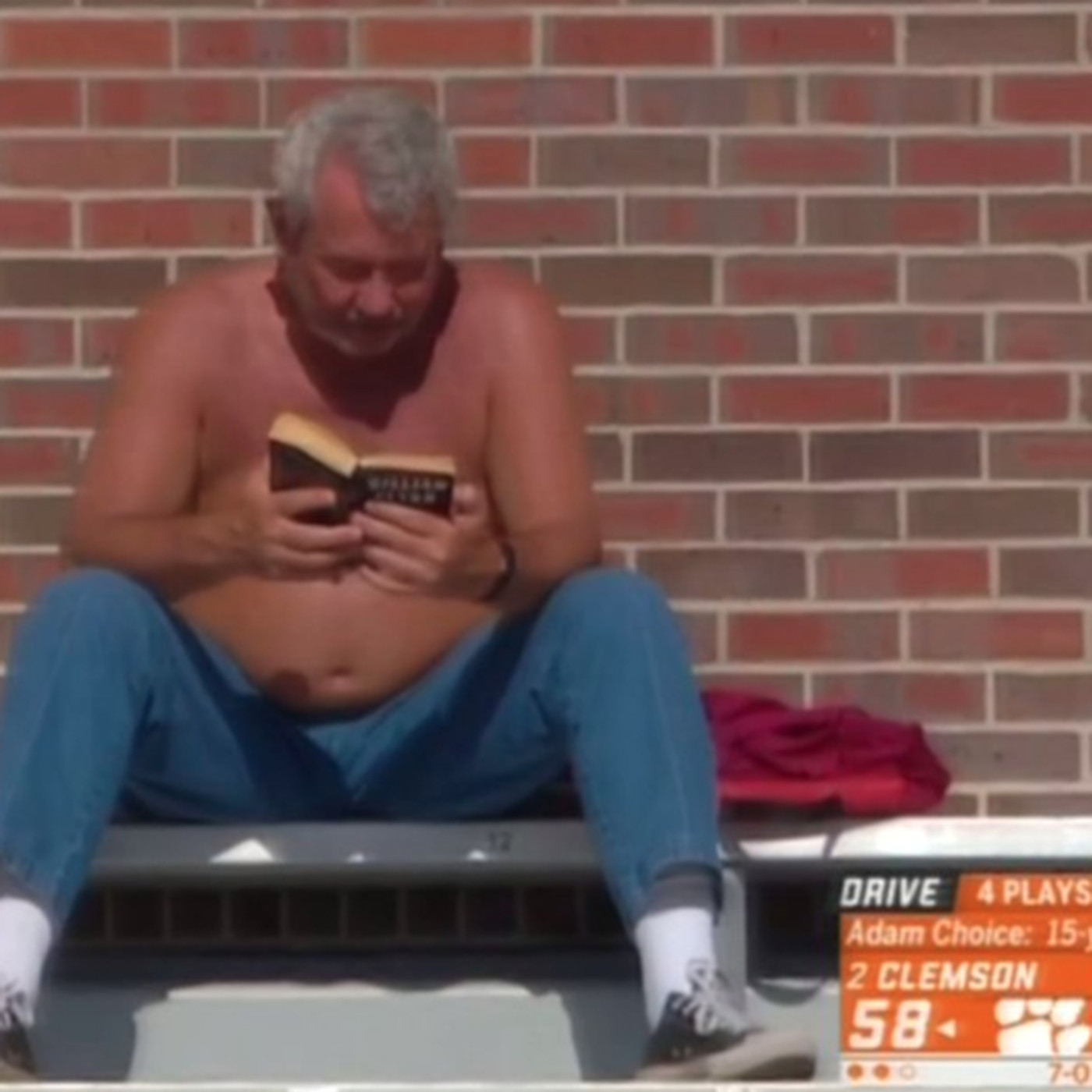 Shirtless Fsu Book Guy Meme Even Better Once You See What Hes