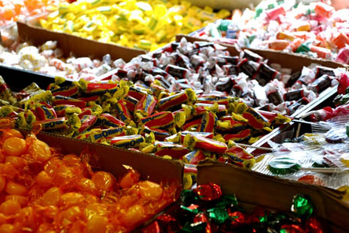 """At Economy Candy. Via <a href=""""http://www.flickr.com/photos/essgee/5051237390/in/pool-312691@N20/"""">EssG</a>/Racked Flickr Pool"""