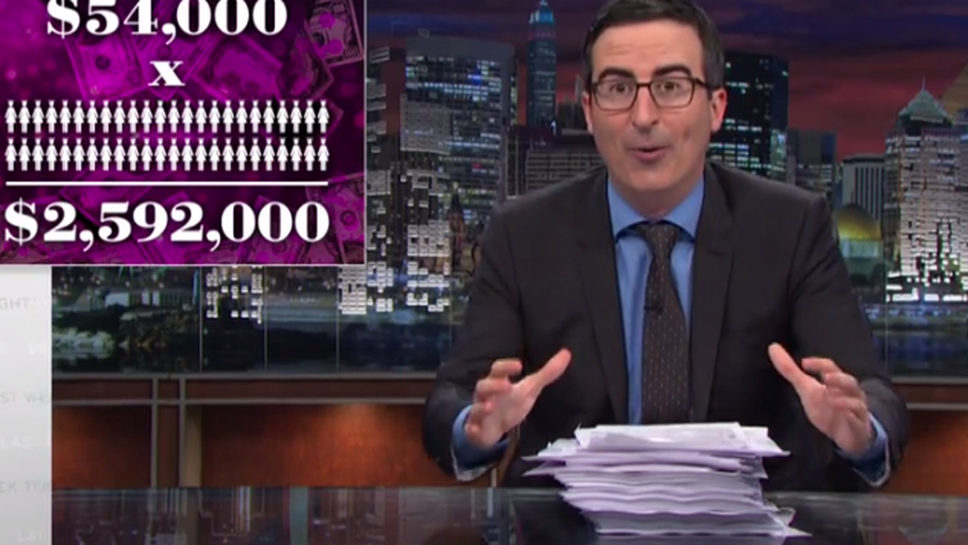 John Oliver rips apart the insane math of the Miss America contest