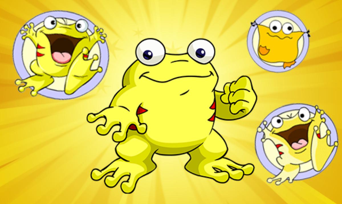frog neopet in yellow