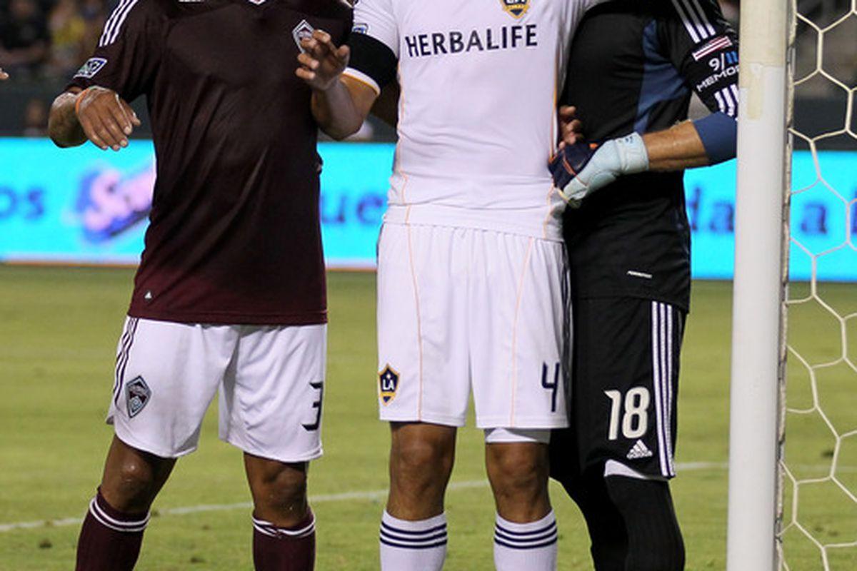 "Omar Gonzalez: ""HI GUYZ"" Matt Pickens: ""Wait, you know those guys?"" Tyrone Marshall: ""Like... uh, what, bro?"""