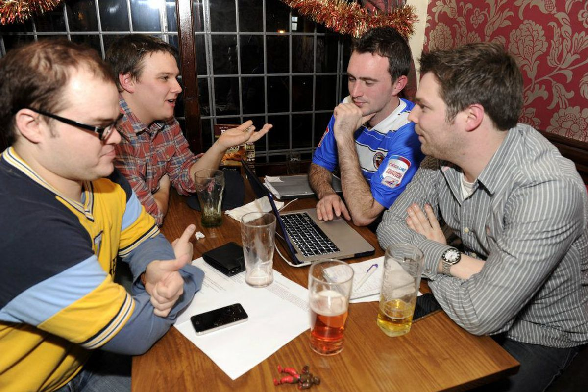 Chris Harltley, Wimb, Westy and Jonny Fordham at the Royals Post Christmas Special in 2011