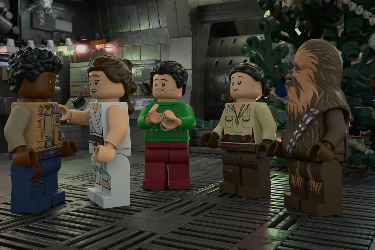 A scene from 'Lego Star Wars Holiday Special.'