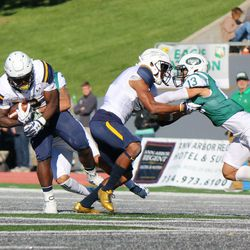One of the Toledo players getting tackled