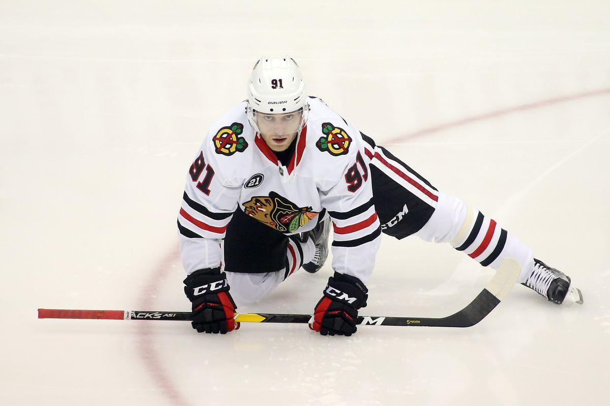 Blackhawks' Drake Caggiula hasn't returned to skating since concussion