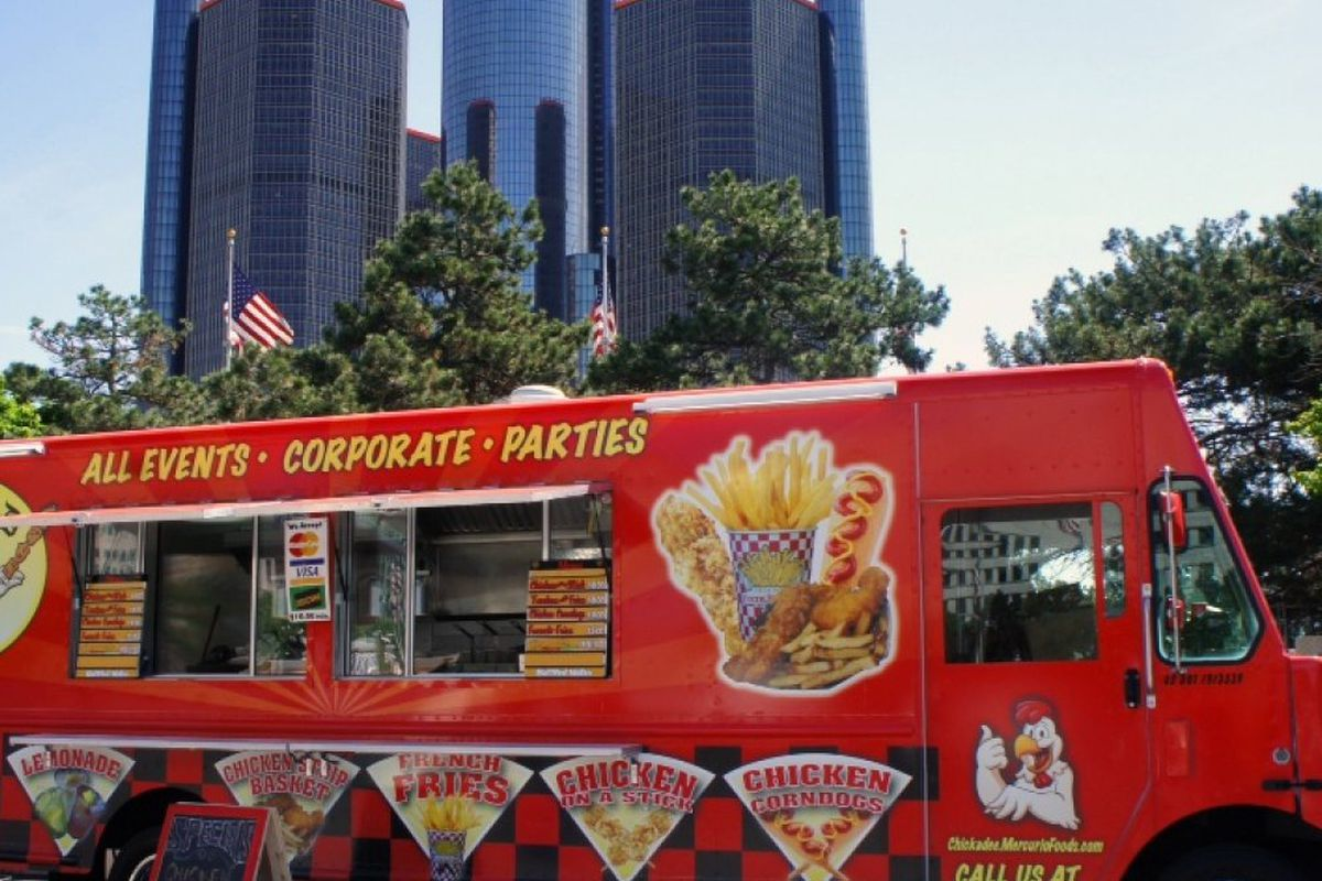 The Detroit Public Schools Community District plans to purchase two food trucks like the one shown in this stock image of Detroit.
