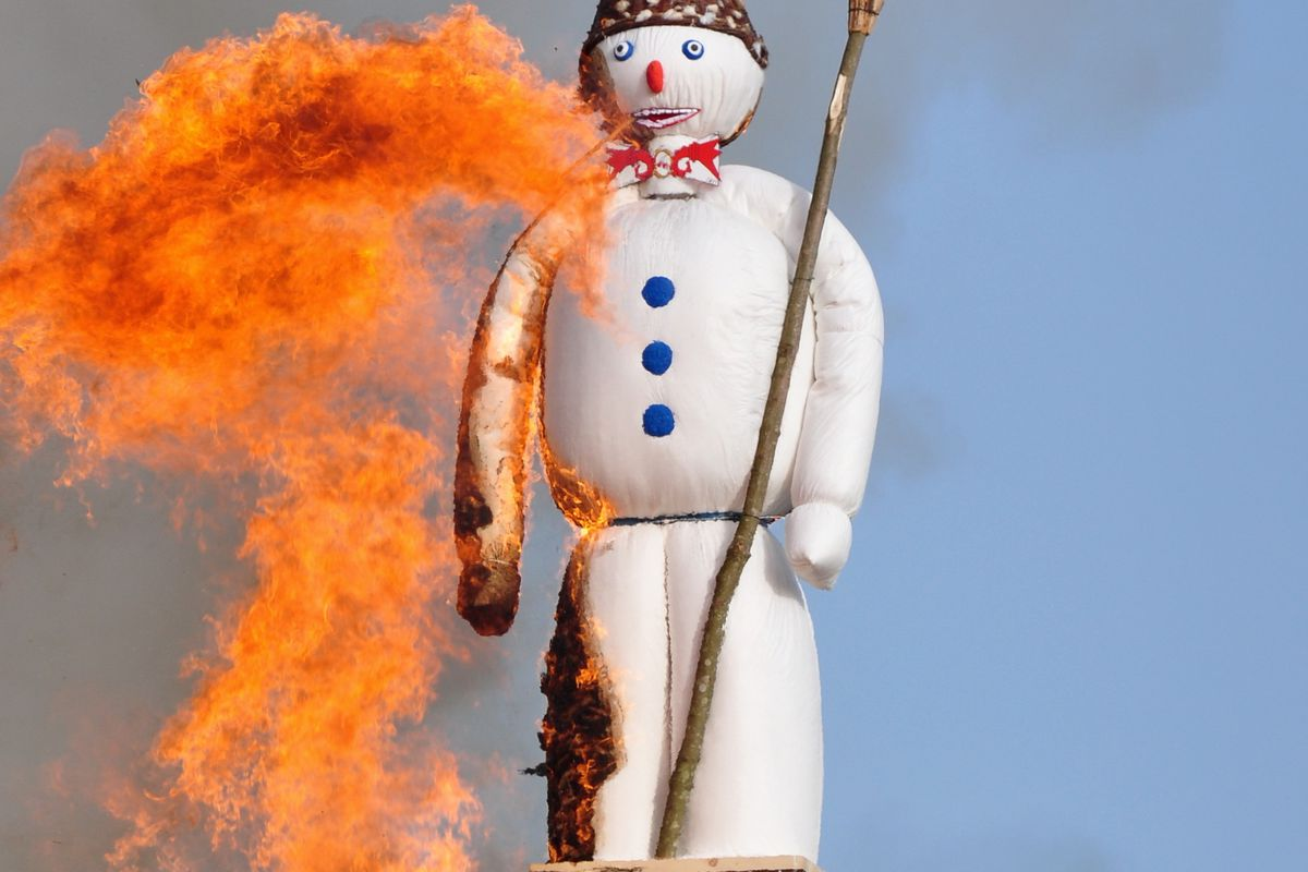 Boom goes the snowman.