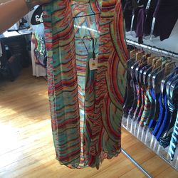 Coverup with sash tie, $110 (was $256)