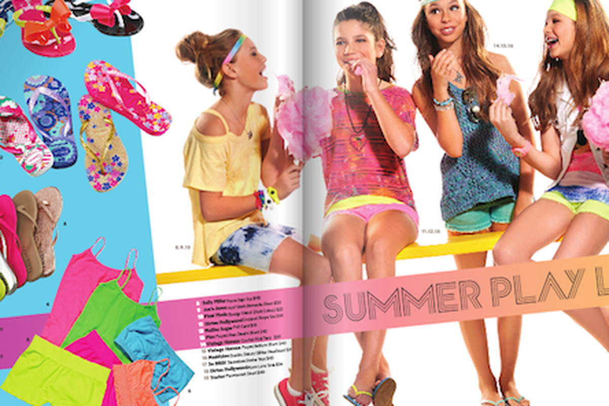 """The <a href=""""http://www.lesters.com/"""">Lester's</a> kid's summer catalog, which looks like suggestions for Coachella"""