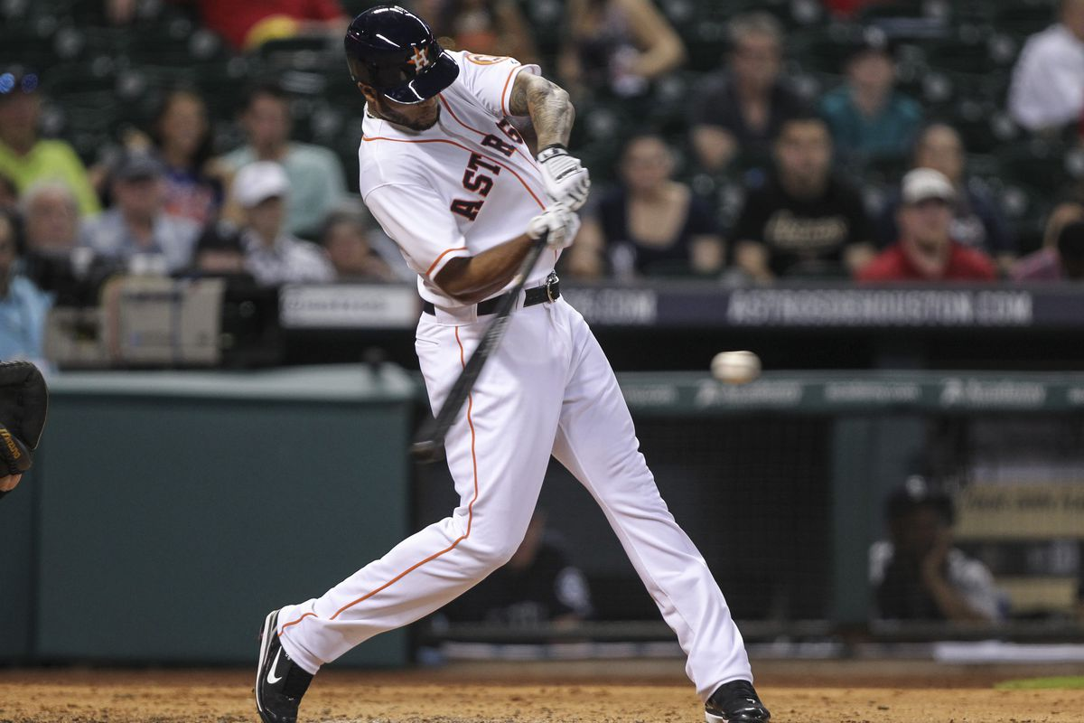 Astros right fielder Domingo Santana finished a triple short of the cycle for AAA Fresno.