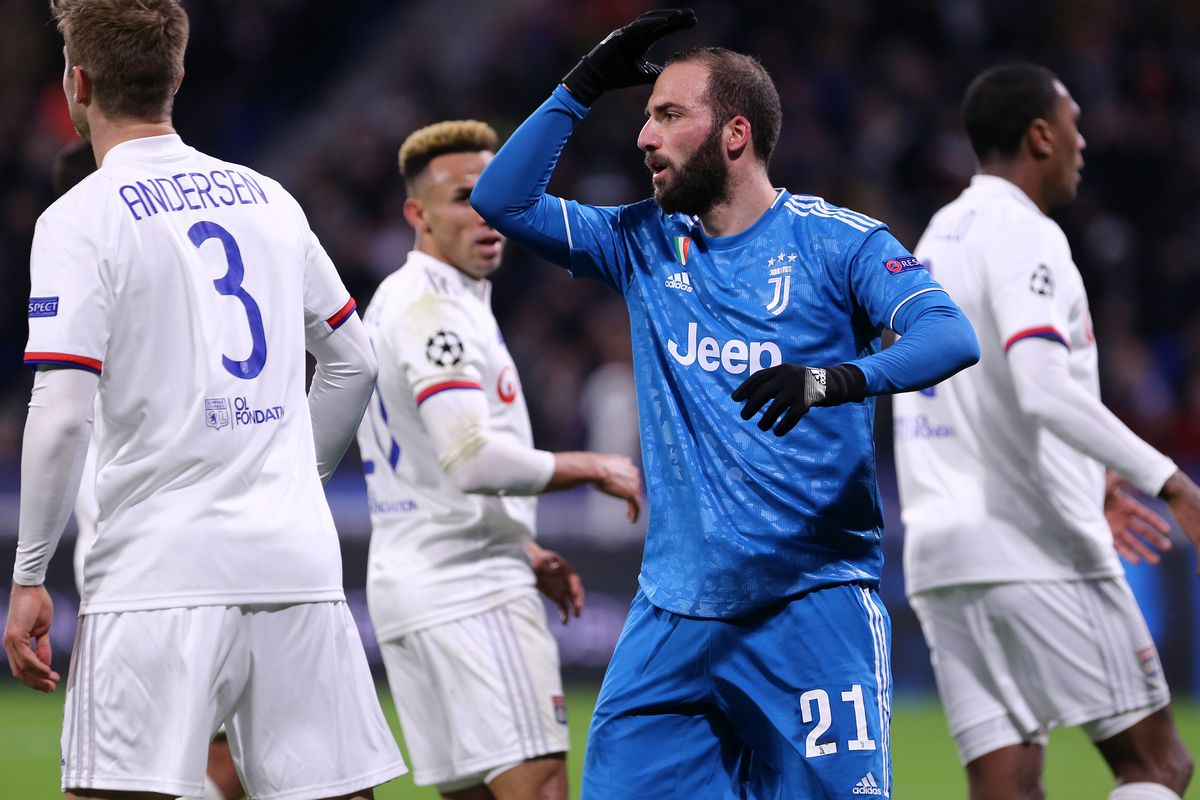 Gonzalo Higuain of Juventus FC during the Uefa Champions...