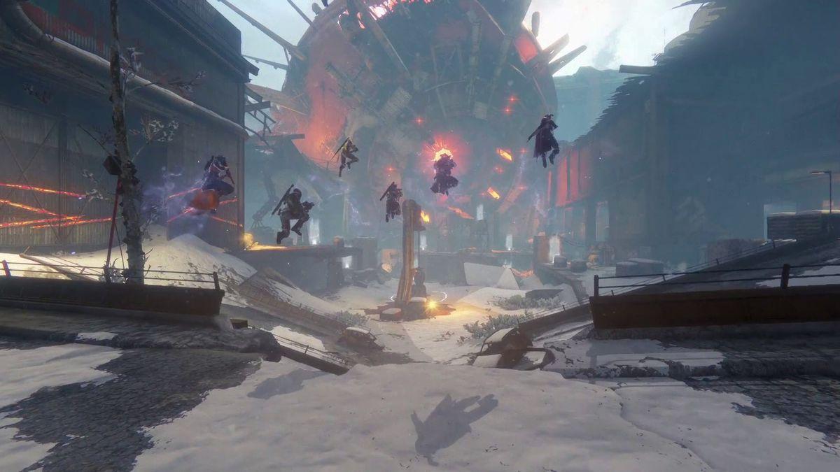 Destiny: Rise of Iron - six Guardians entering the raid