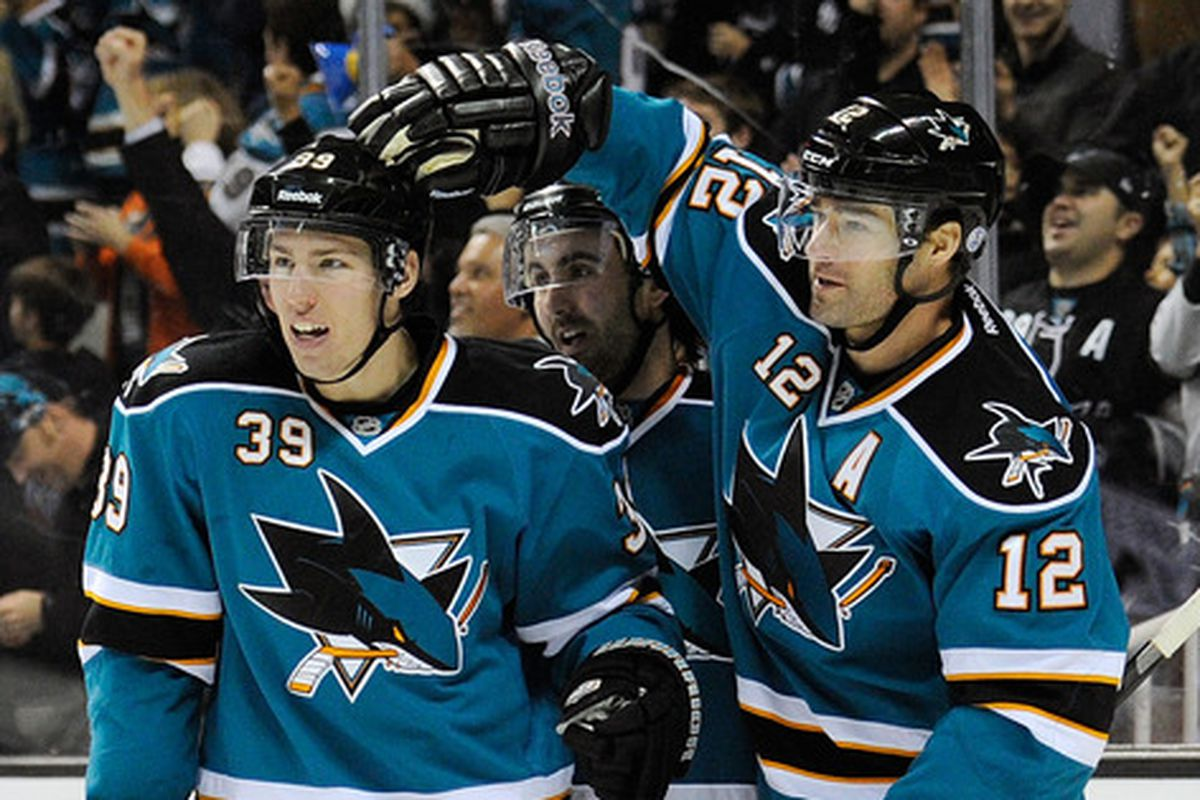 Who starts the year on a line with Marleau and Couture? Probably not Benn Ferriero.