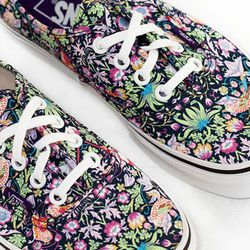 """<b>Vans</b> Liberty Authentic, <a href=""""https://frenchgarmentcleaners.com/catalog/womens/products/f13-liberty-authentic-birds"""">$60</a> at French Garment Cleaners"""