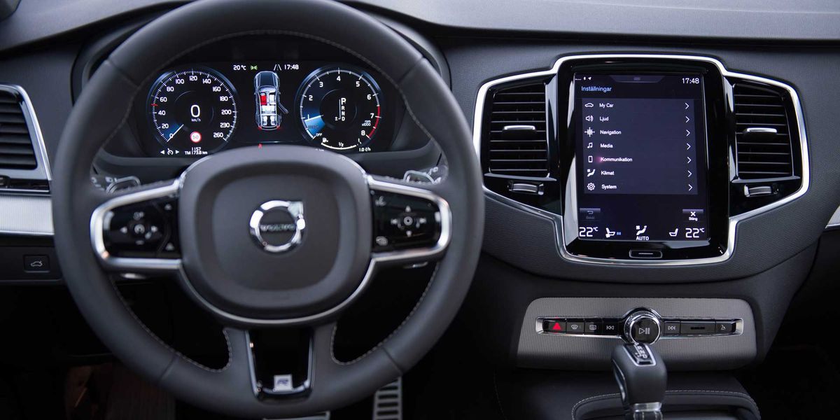 The dashboard console of the 2017 Volvo XC90   COURTESY OF CHICAGO AUTO SHOW