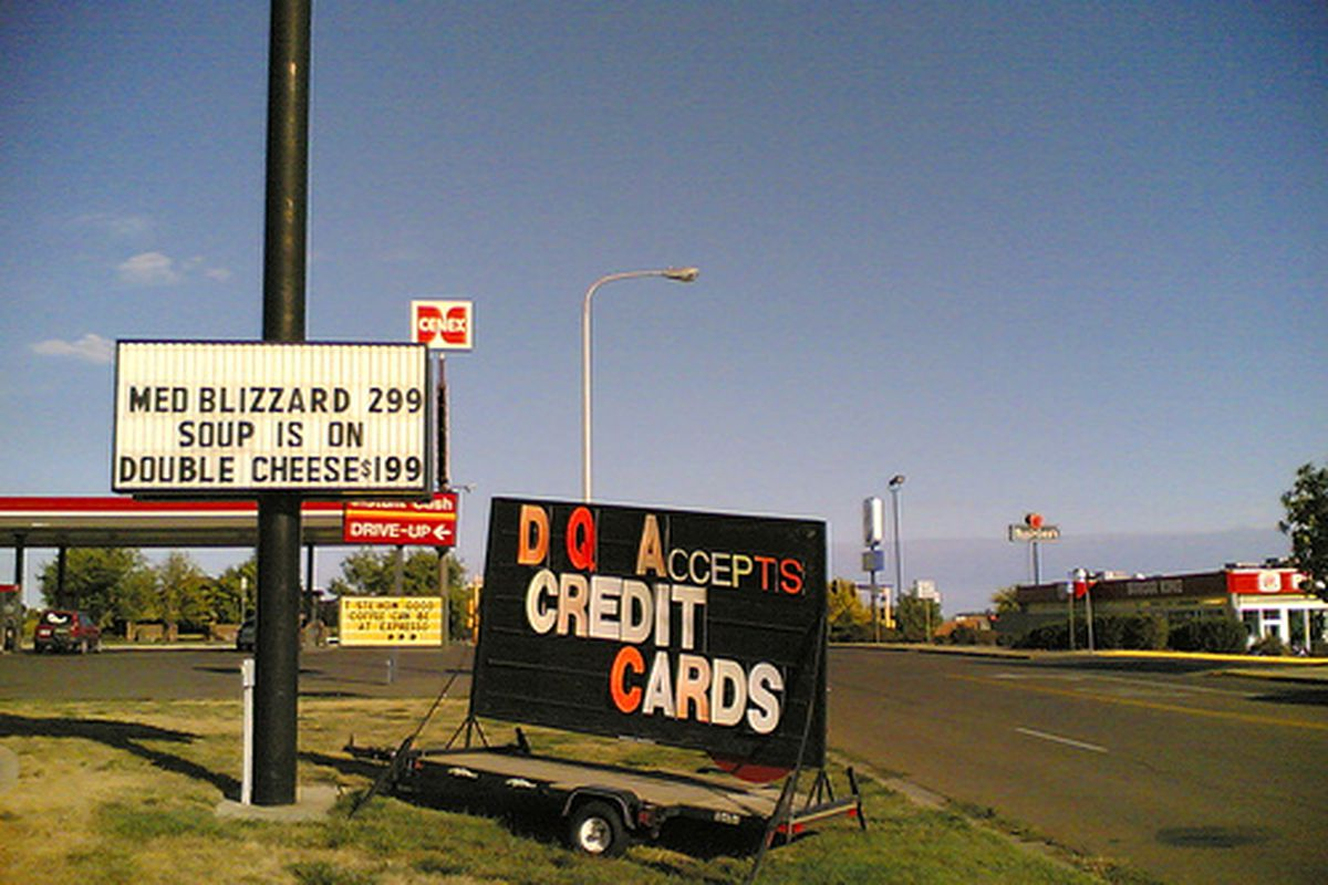 Dairy Queen accepts credit cards.