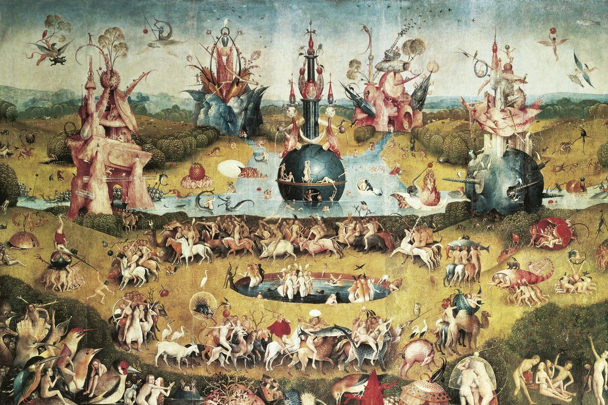 Musicians' Hell, detail from the Garden of Earthly Delights, by Hieronymus Bosch (ca 1450-1516). (Photo by DeAgostini/Getty Images)