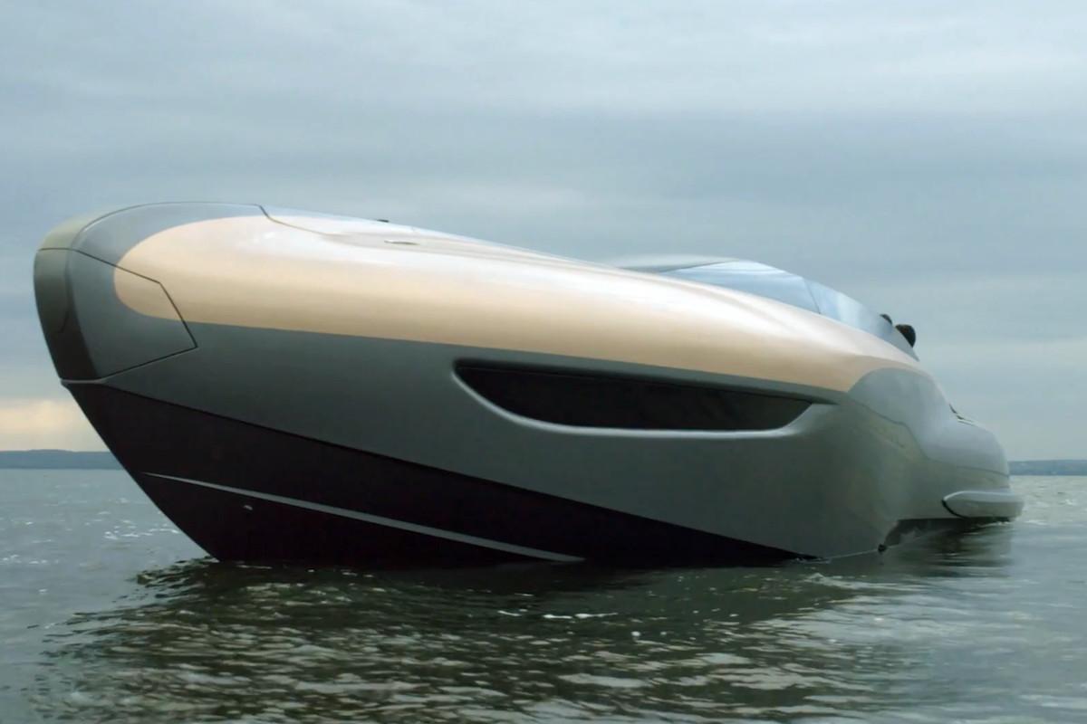 a sleek and modern speed yacht